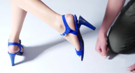 A German company created shoes with five interchangeable heels