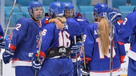 Kazakhstan women hockey team wins Great Britain at qualifying for the Winter Olympics