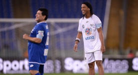Ronaldinho joins Diego Maradona in united for peace charity match