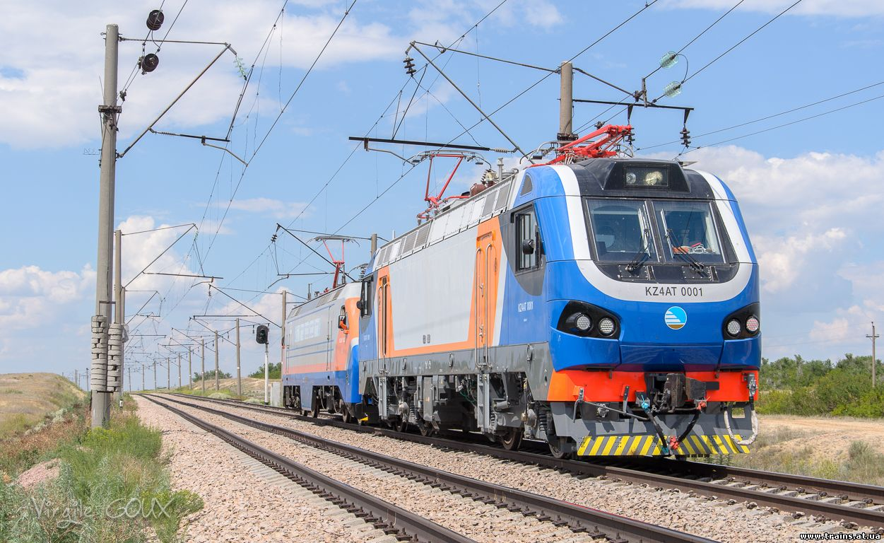 Newest Kazakh electric locomotives will soon arrive in Azerbaijan