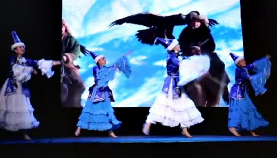 The Kiev choreographic collective performed Kazakh dances in the framework of the festival