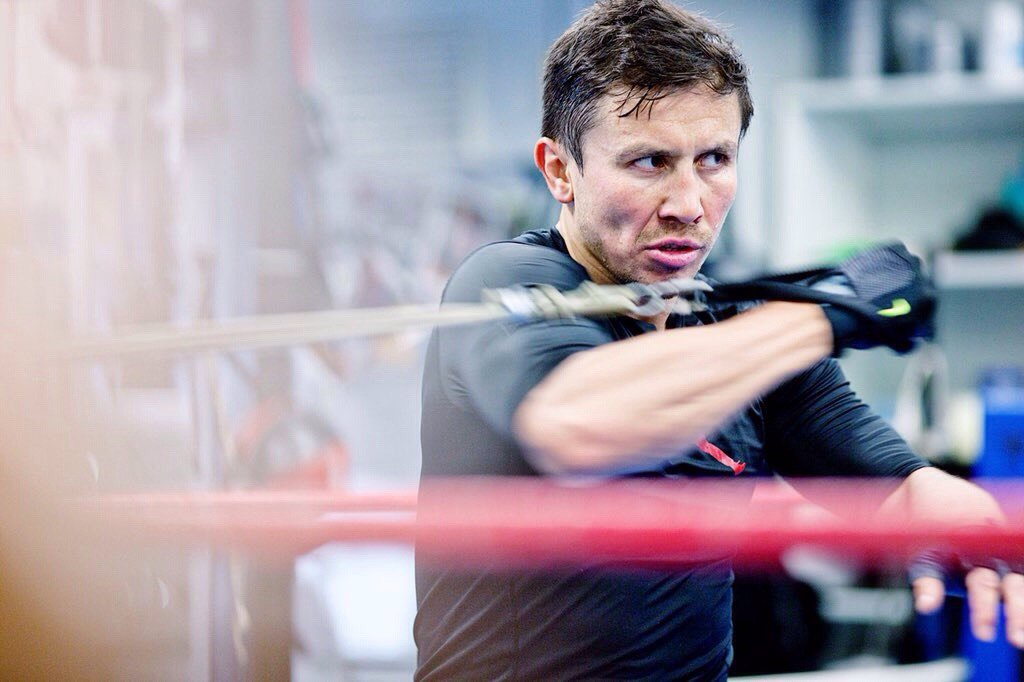 Golovkin training in Big Bear