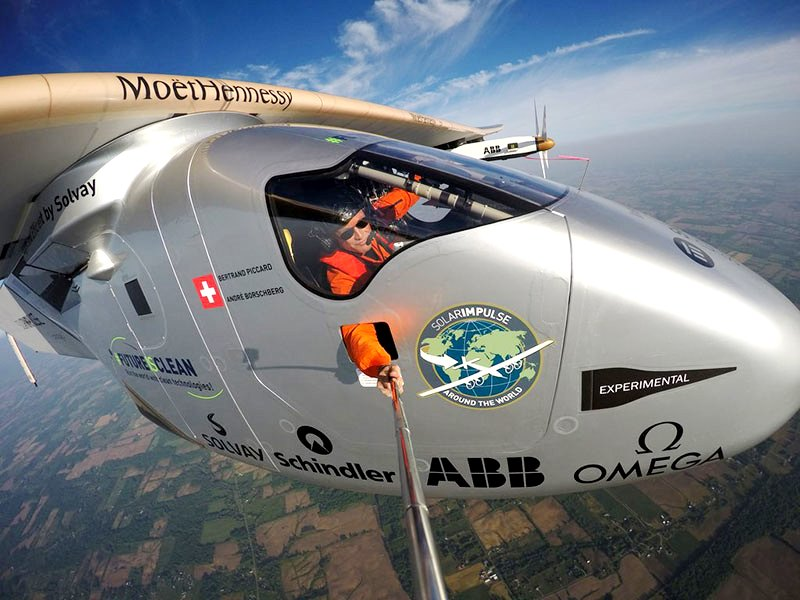 Inventor of the first solar-powered aircraft, Bertrand Piccard visited Astana