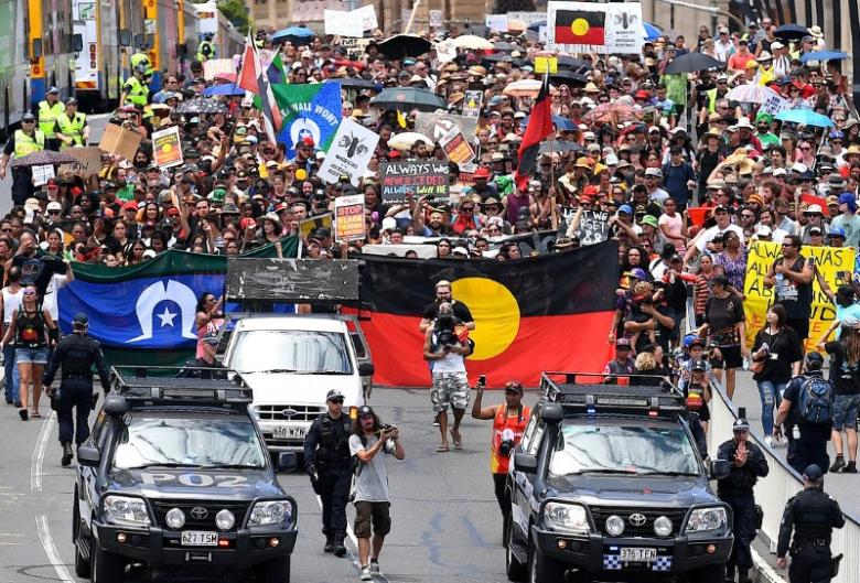 Thousands march demanding change to Australia Day, citing aboriginal injustices