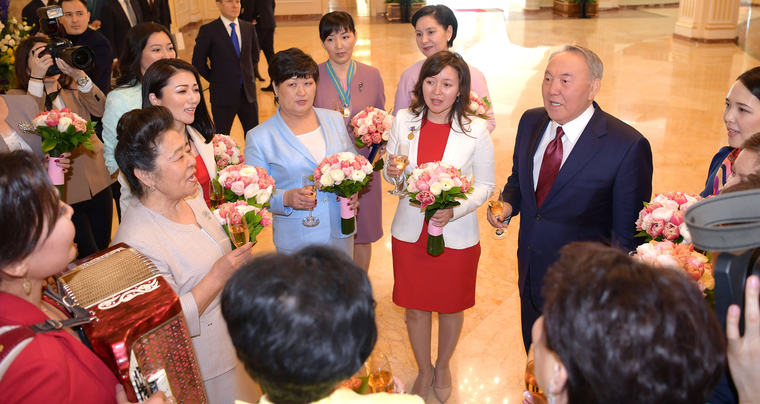 Congratulation of President Nazarbayev on the International Women's Day