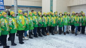 About 3,000 volunteers are working at the 28th Winter Student Games in Almaty