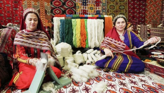 Carpet weaving is one of the oldest art forms of the peoples of Central Asia
