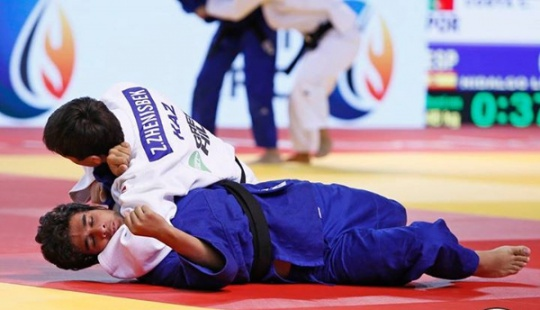 Judo champions honored in Astana