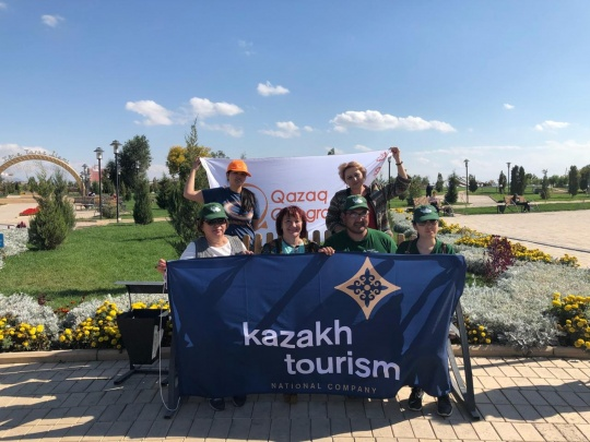The expedition as part of the 'Uly Dala Yeline Sayakhat' project has arrived in Taraz