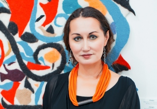 Solo exhibition titled 'I'm here' by famous Kazakh artist Leila Makhat was opened in Astana