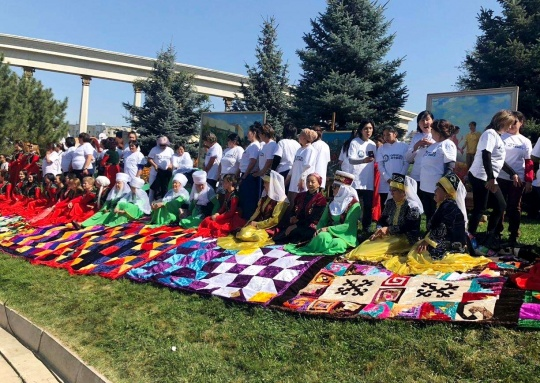 'Kurak korpe' Kazakh patchwork quilt is listed in the Guinness Book of Records