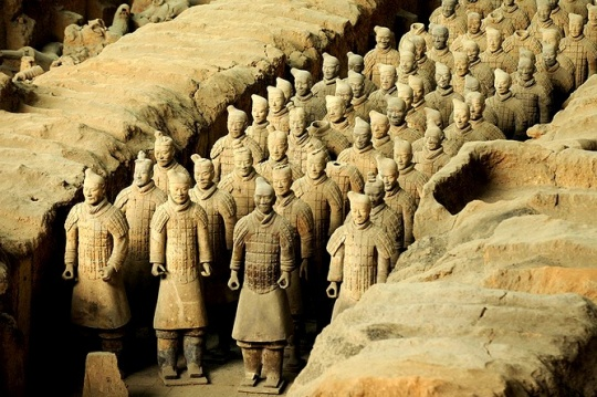 CHINESE TERRACOTTA ARMY EXHIBITED IN KAZAKH NATIONAL MUSEUM