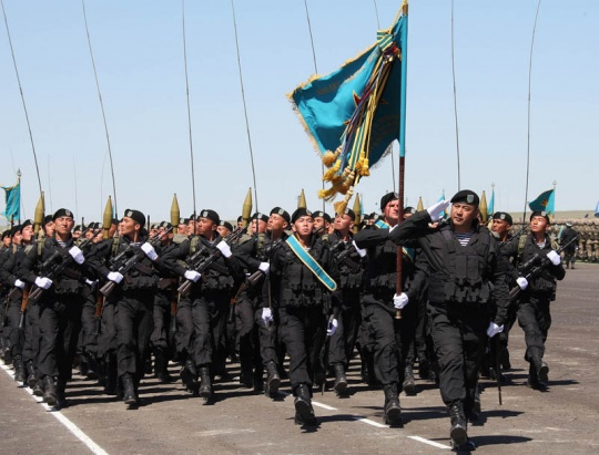 Military parade  was held in Zhanbyl region