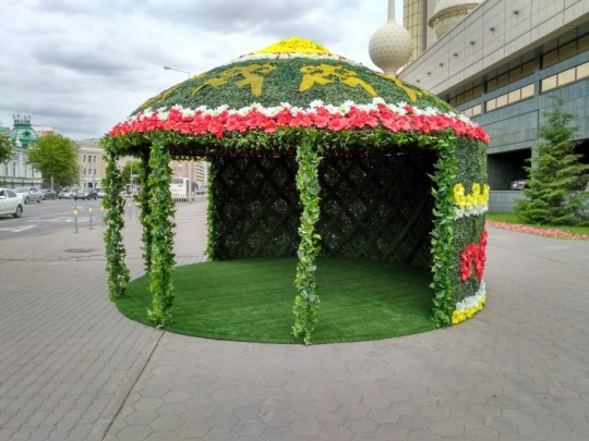 ASTANA ADORNED WITH SEVEN MILLION FLOWERS