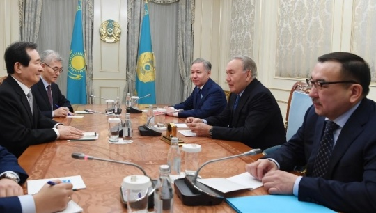 Nursultan Nazarbayev met with the Speaker of the South Korean Assembly Chung Sye-kyun