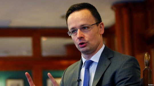Interview with Hungarian minister of foreign affairs and trade Peter Szijjarto