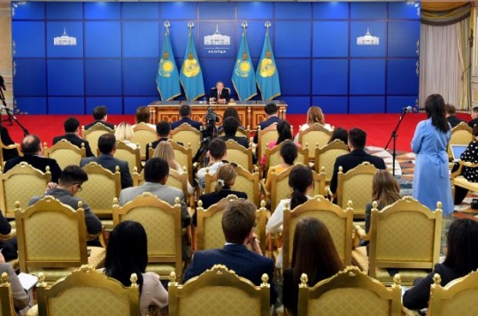 Press conference by President of Kazakhstan