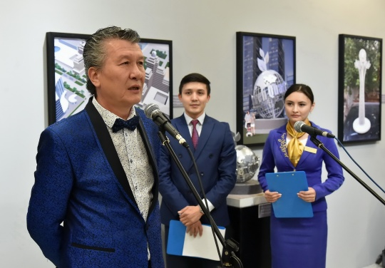 Different types of artworks presented by Bolat Mukhamediyev