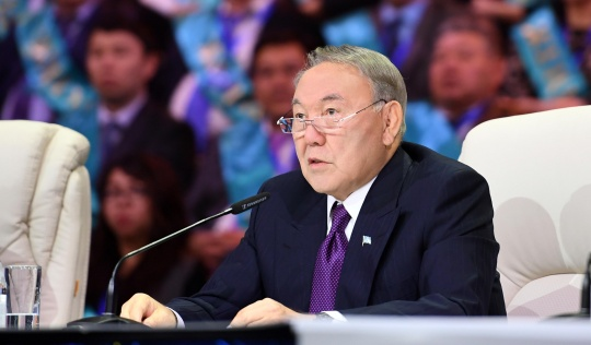 A nationwide telecast with President Nursultan Nazarbayev was held in Astana