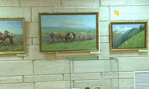 KAZAKH PICTORIAL ART: PAINTING THE KAZAKH NATIONAL GAMES.