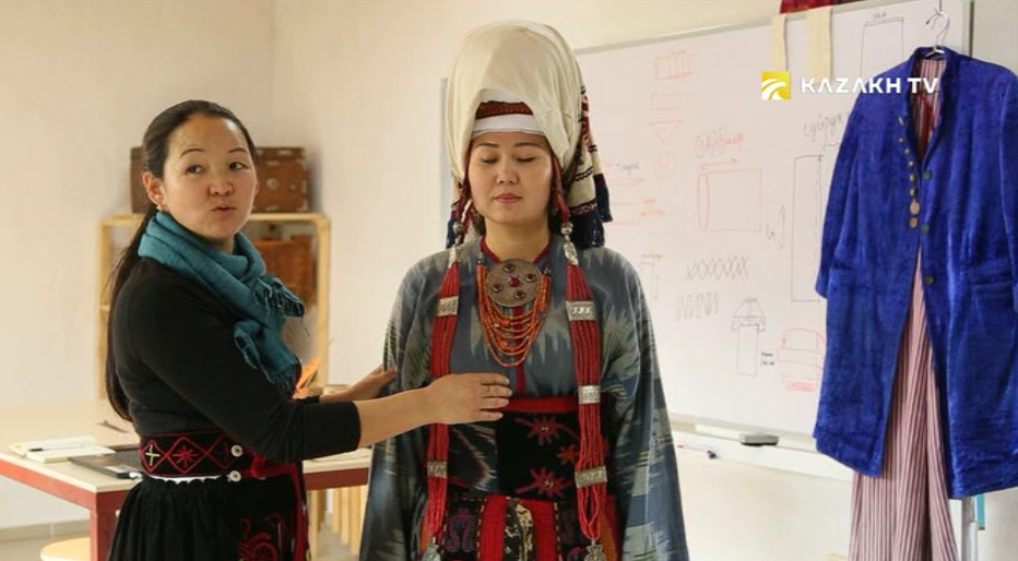 Guardian of traditional Kyrgyz head-dress